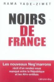 Noirs De France - Couverture - Format classique