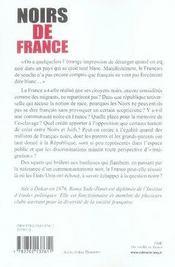 Noirs De France - 4ème de couverture - Format classique