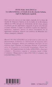 Histoire Des Antilles Hispaniques ; Suite Para Dos Epocas - 4ème de couverture - Format classique