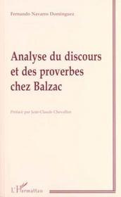 Analyse Du Discours Et Des Proverbes Chez Balzac - Intérieur - Format classique
