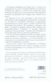 L'évènement climatique et ses représentations, xvii-xix siècle ; histoire, littérature, musique et peinture - 4ème de couverture - Format classique