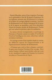 Krishnamurti - 4ème de couverture - Format classique