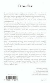 Druides les maitres du temps - 4ème de couverture - Format classique