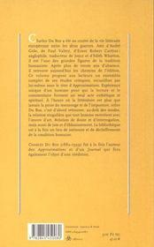 Approximations - 4ème de couverture - Format classique
