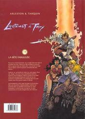 Lanfeust de Troy t.8 ; la bête fabuleuse - 4ème de couverture - Format classique
