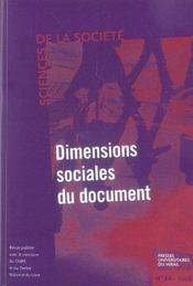 Dimensions sociales du document - Intérieur - Format classique