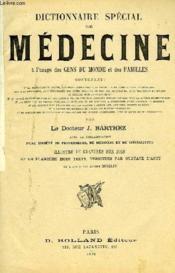 Dictionnaire Special De Medecine A L'Usage Des Gens Du Monde Et Des Familles - Couverture - Format classique