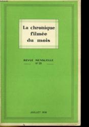 La Chronique Filmee Du Mois N°29 - Couverture - Format classique