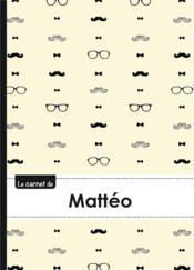 Carnet Matteo Lignes,96p,A5 Moustachehispter - Couverture - Format classique