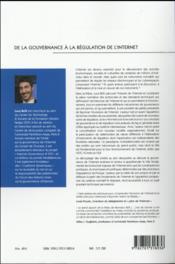 De la gouvernance à la régulation de l'Internet - 4ème de couverture - Format classique
