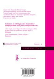Génération K t.2 - 4ème de couverture - Format classique
