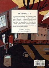 Le jardinier - 4ème de couverture - Format classique
