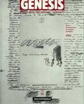Genesis N.13 ; Manuscrits, Recherche, Invention - Couverture - Format classique