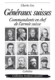 Generaux Suisses - Couverture - Format classique