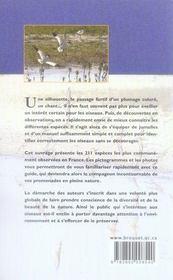 Les oiseaux de France ; guide d'initiation - 4ème de couverture - Format classique