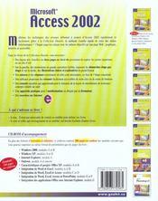 Access 2002 - 4ème de couverture - Format classique