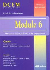 Module 6 ; douleur, soins palliatifs, accompagnement - Intérieur - Format classique