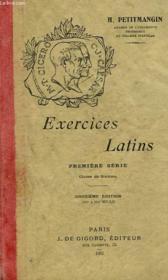 EXERCICES LATINS, 1re SERIE, CLASSE DE 6e - Couverture - Format classique