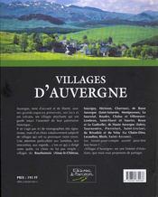 Villages D'Auvergne - 4ème de couverture - Format classique
