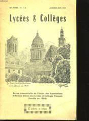 Lycees Et Colleges - 20eme Annee - N° 1 - 2 - Couverture - Format classique
