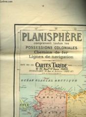 Planisphere Comprenant Toutes Les Possessions Coloniales Chemin De Fer Lignes De Navigation - Couverture - Format classique