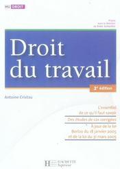 Hu Droit ; Droit Du Travail - Intérieur - Format classique
