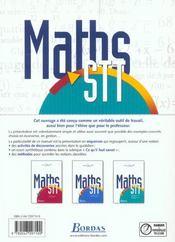Maths Term Stt Communic. 2003 - 4ème de couverture - Format classique