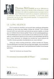 Le long silence - 4ème de couverture - Format classique
