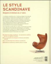 Le style scandinave ; designers et intérieurs du XXe siècle - 4ème de couverture - Format classique