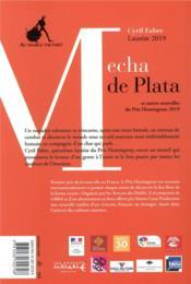 Mecha de plata et autres nouvelles du prix Hemingway - 4ème de couverture - Format classique