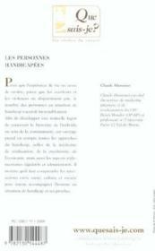 Personnes handicapes (4e ed) (les) (4e édition) - Couverture - Format classique
