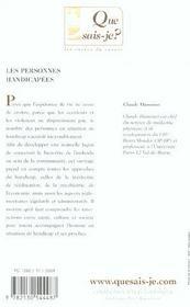 Personnes handicapes (4e ed) (les) (4e édition) - 4ème de couverture - Format classique