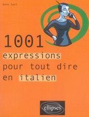 1001 expressions pour tout dire en italien - Intérieur - Format classique