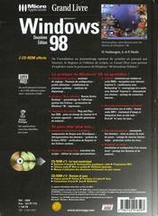 Windows 98 - 4ème de couverture - Format classique