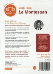 Le Montespan - 4ème de couverture - Format classique
