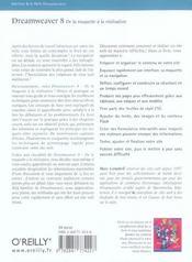 Dreamweaver 8 De La Maquette A La Realisation - 4ème de couverture - Format classique