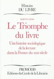 Le triomphe du livre - Couverture - Format classique