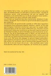 Le tao de la psychologie - 4ème de couverture - Format classique