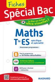 Fiches spécial bac ; mathématiques ; terminale ES - Couverture - Format classique