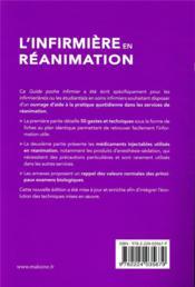 L'infirmière en réanimation (6e édition) - 4ème de couverture - Format classique