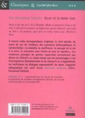 Oscar et la dame rose - Couverture - Format classique