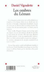 Les ombres du leman - 4ème de couverture - Format classique