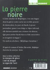 Belphégor ; la pierre noire - 4ème de couverture - Format classique