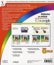 Débuter en micro c'est simple ; gold edition windows vista - 4ème de couverture - Format classique