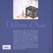 Delices d'asie - 4ème de couverture - Format classique