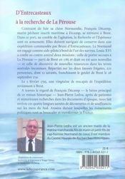 À la recherche de La Pérouse ; deux sabots sur la mer - 4ème de couverture - Format classique