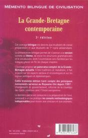 Memento Bilingue De Civilisation (3e édition) - 4ème de couverture - Format classique