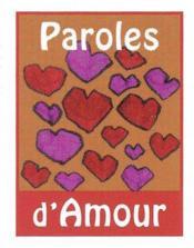 Paroles d'amour - Couverture - Format classique