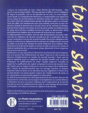 La Securite Incendie Dans Un Etablissement De Sante 2e Ed Organisation, Prevention Et Responsabilite - 4ème de couverture - Format classique