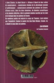 Aimé Césaire ; le chant blesse ; biologie et poétique - 4ème de couverture - Format classique